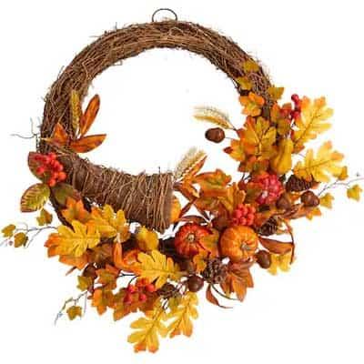Fall Cornucopia Wreath