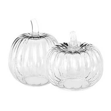 Clear Glass Pumpkins