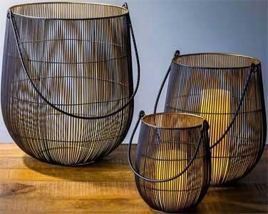 Wire Mesh Lanterns