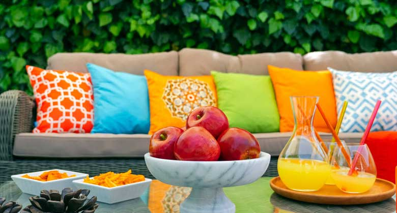 Outdoor Throw Pillows and Outdoor Chair Cushions