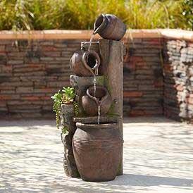 Terracotta Cascading Outdoor Fountain