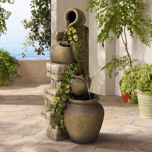 Cascading Urns Outdoor Fountain